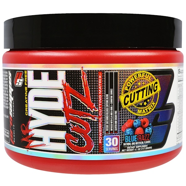 ProSupps, Mr Hyde Cutz, Powerful Cutting Matrix, Blue Razz, 4.1 oz (117 g) (Discontinued Item)