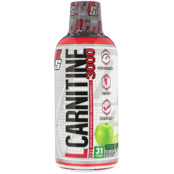 L-Carnitine 3000, Green Apple, 16 fl oz (473 ml)