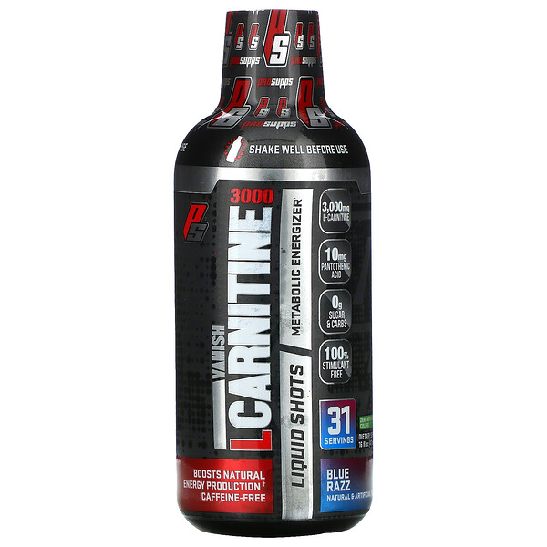 L-Carnitine 3000, Blue Razz, 16 fl oz (473 ml)