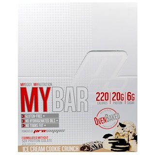 ProSupps, My Bar, Ice Cream Cookie Crunch, 12 Bars, 11.64 oz (330 g)