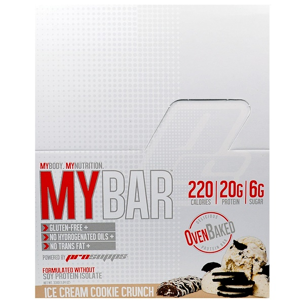 ProSupps, My Bar, Ice Cream Cookie Crunch, 12 Bars, 11.64 oz (330 g) (Discontinued Item)