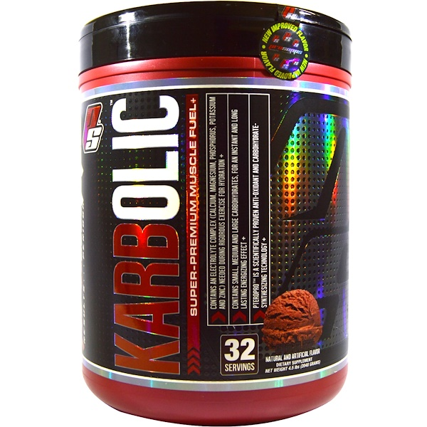 ProSupps, Karbolic, Super Premium Muscle Fuel, Chocolate, 4.5 lbs (2048 g) (Discontinued Item)