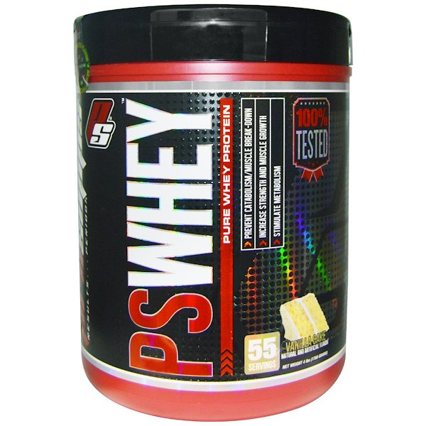 ProSupps, PSWhey, Pure Whey Protein, Vanilla Cake, 4 lbs (1760 g) (Discontinued Item)