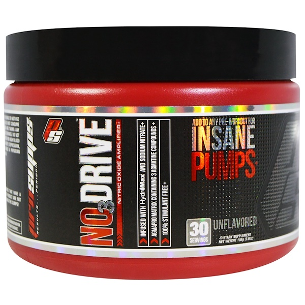 ProSupps, NO3 Drive, Nitric Oxide Amplifier, Unflavored, 3.8 oz (108 g) (Discontinued Item)