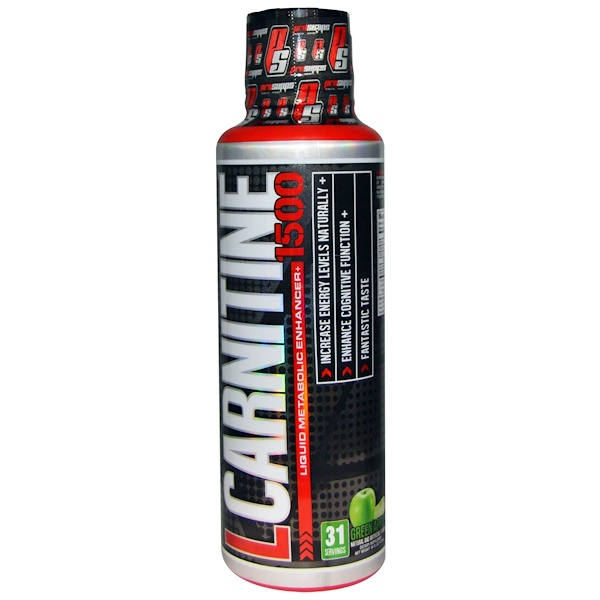 ProSupps, L-Carnitine 1500, Green Apple, 1,500 mg, 16 fl oz (473 ml)