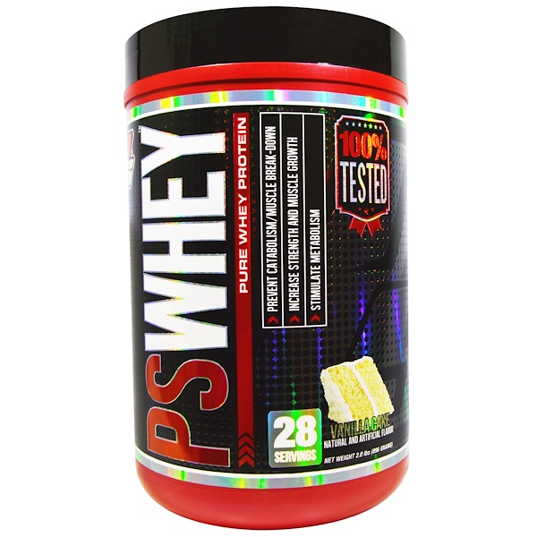 ProSupps, PSWhey, Pure Whey Protein, Vanilla Cake, 2.0 lbs (896 g) (Discontinued Item)