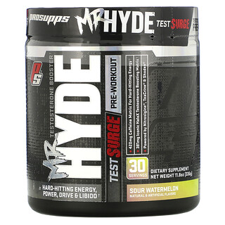 ProSupps, Mr. Hyde Test Surge, Testosterone Boosting Pre-Workout, Sour Watermelon, 11.8 oz (336 g)