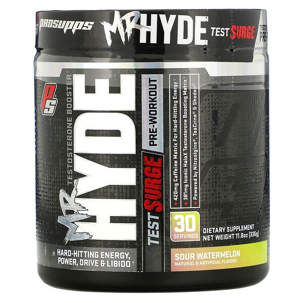 Mr. Hyde Test Surge, Testosterone Boosting Pre-Workout, Sour Watermelon, 11.8 oz (336 g)