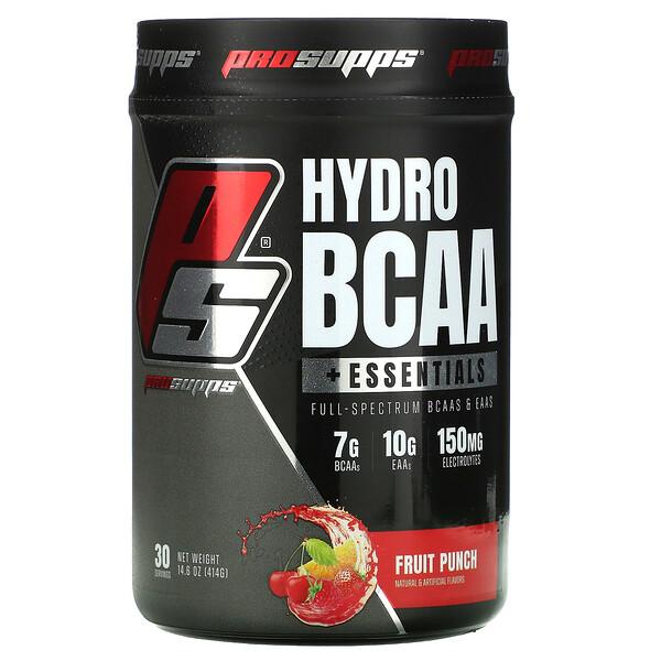 Hyrdo BCAA +Essentials, Fruit Punch, 14.6 oz (414 g)
