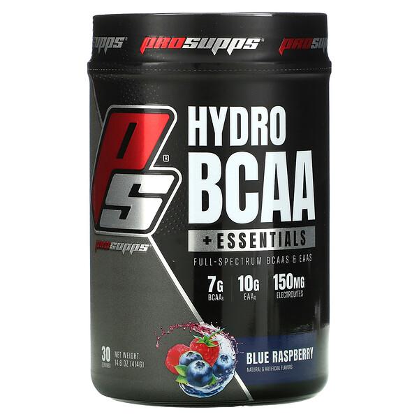 Hyrdo BCAA +Essentials, Blue Raspberry, 14.6 oz (414 g)
