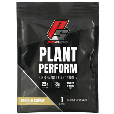 ProSupps Plant Perform, Performance Plant Protein, Vanilla Creme, 1 packet, 1.27 oz