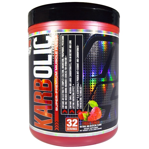 ProSupps, Karbolic, Super Premium Muscle Fuel, Fruit Punch, 4.6 lbs (2080 g) (Discontinued Item)