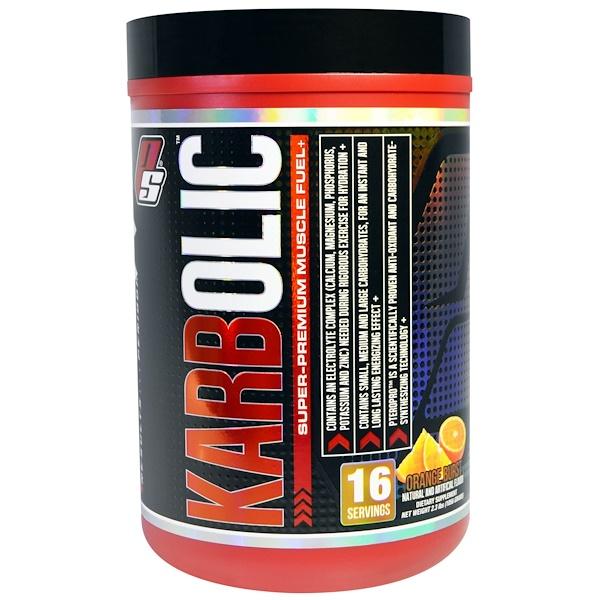 ProSupps, Karbolic, Super Premium Muscle Fuel, Orange Burst, 2.3 lbs (1056 g) (Discontinued Item)