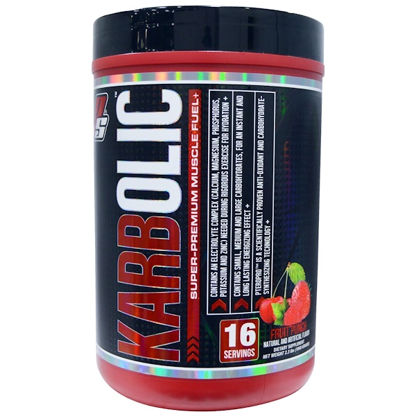 ProSupps, Karbolic, Super-Premium Muscle Fuel, Fruit Punch, 2.3 lbs (1040 g) (Discontinued Item)
