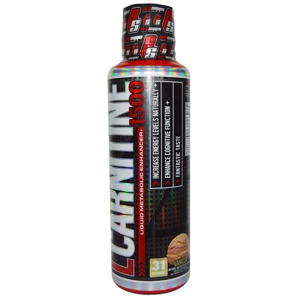 ProSupps, L-Carnitine 1500, Vanilla, 16 fl oz (473 ml) (Discontinued Item)