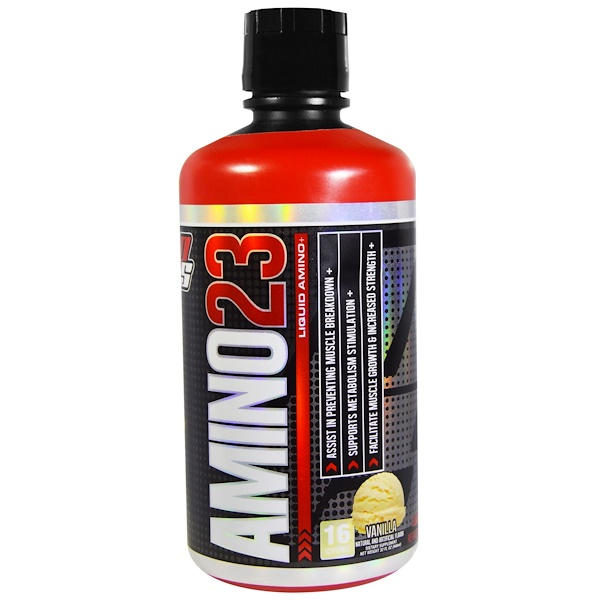 ProSupps, Amino23, Liquid Amino, Vanilla, 32 fl oz (946 ml) (Discontinued Item)