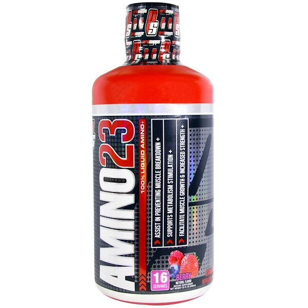 ProSupps, Amino23, 100% Liquid Amino, Berry, 32 fl oz (946 ml)
