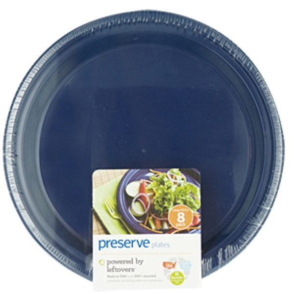 Preserve, Reusable Plates, Large, Midnight Blue, (8-Pack) 10.5 Each  (Discontinued Item)