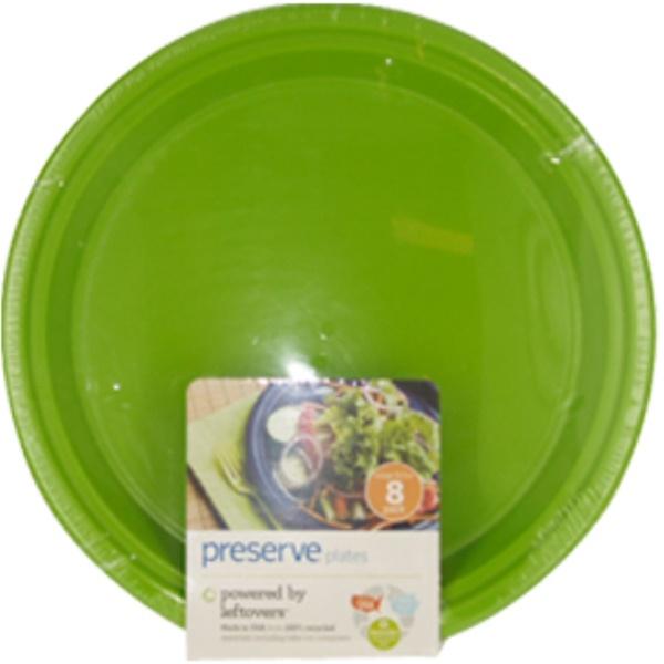 Preserve, Многоразовые тарелки, Зеленое Яблоко, Большие, 10,5 дюймов 8-упаковки (Discontinued Item)