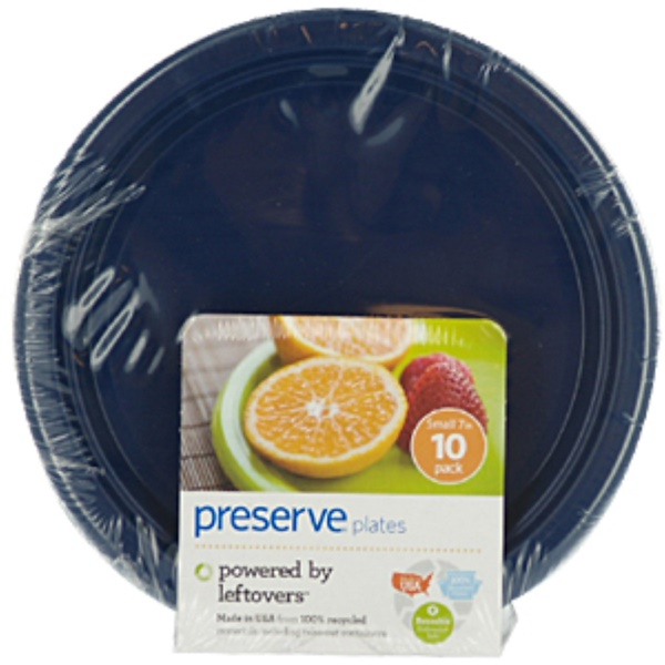 Preserve, Plates, Reusable, Midnight Blue, Small, 10 Pack, 7 in (Discontinued Item)