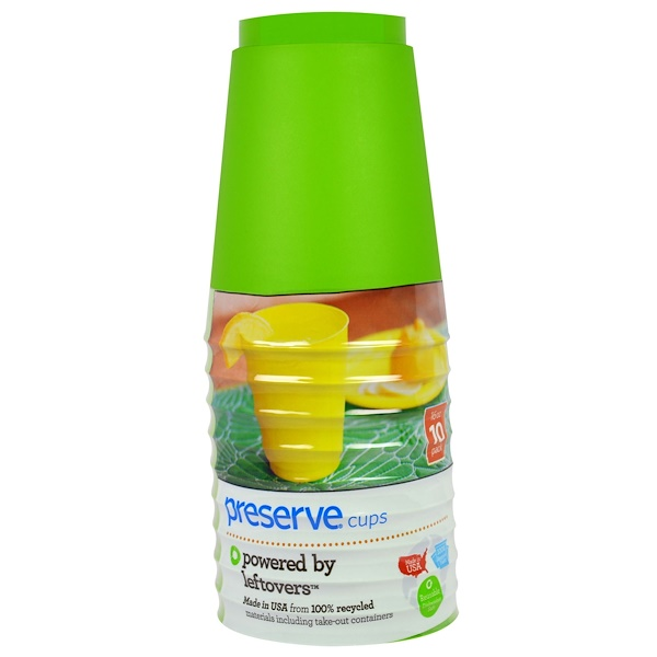 Preserve, Apple Green Cups, 10 Pack, 16 oz. Each (Discontinued Item)