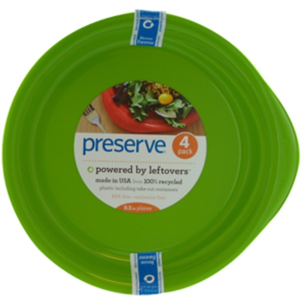 Preserve, Apple Green Everyday Plates, 4-Pack, 9.5 in Each (Discontinued Item)