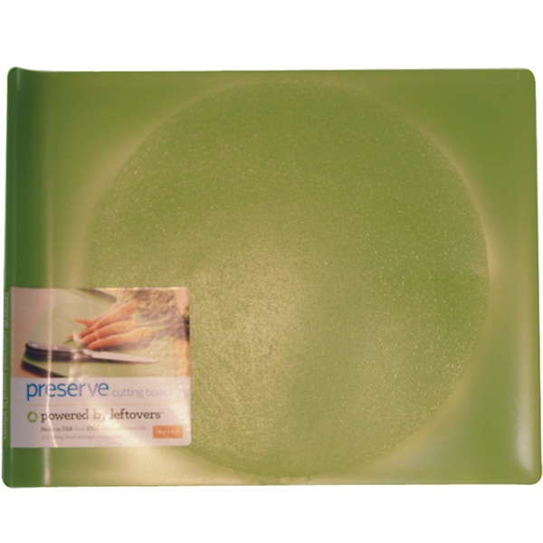 "Preserve, Plastic Cutting Board, Green, Large (14"" x 11"") (Discontinued Item)"