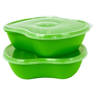 Preserve, Food Storage Set, Square, Green, 2 Pack, 25 oz (740 ml)