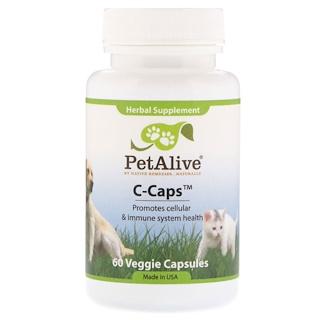 PetAlive, C-Caps، 60 كبسولة نباتية