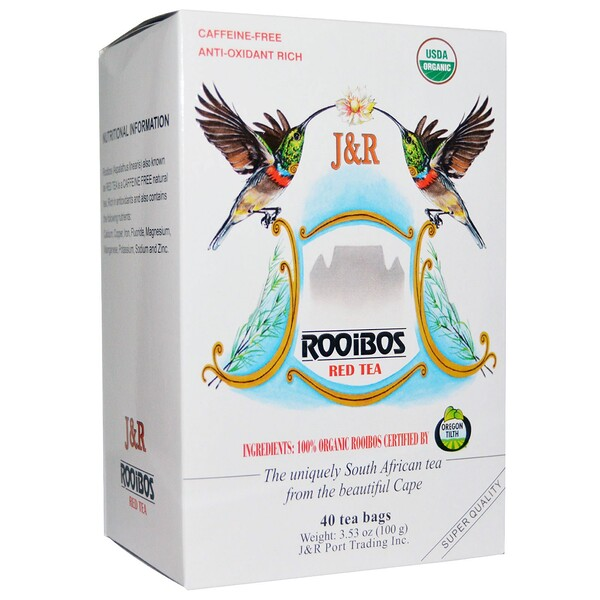 Pure Rooibos Red Tea, Caffeine Free, 40 Tea Bags, 3.53 oz (100 g)