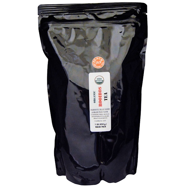 Port Trading Co., オーガニック ルイボスティ, ピーチ, カフェイン無し, 1 ポンド (454 g) (Discontinued Item)