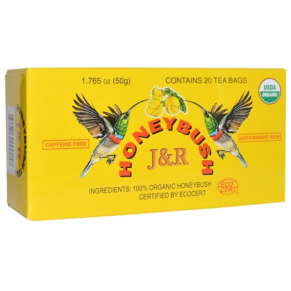 J&R Port Trading Co., J&R Honeybush Tea, Caffeine Free, 20 Tea Bags, 1.765 oz (50 g) (Discontinued Item)