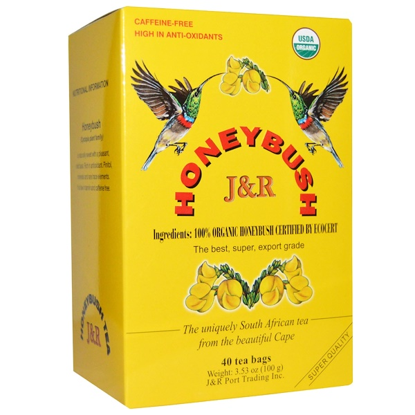 J&R Port Trading Co., Honeybush, 40 Tea Bags, 3.53 oz (100 g) (Discontinued Item)