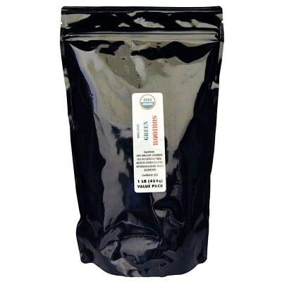 Купить J&R Port Trading Co. Органический зеленый ройбуш, без кофеина, 454г (1фунт)