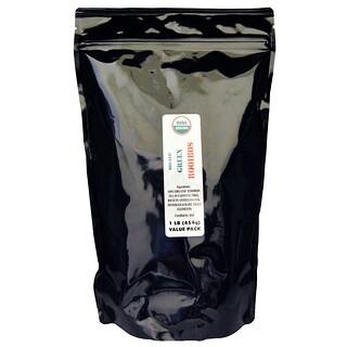 Port Trading Co., Органический зеленый ройбуш, без кофеина, 1 фунт (454 г)