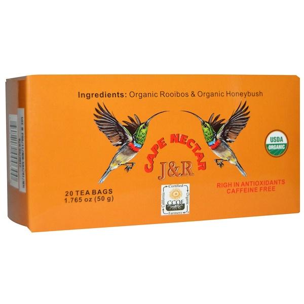 J&R Port Trading Co., J & R Cape Nectar, Caffeine Free, 20 Tea Bags, 1.765 oz (50 g) (Discontinued Item)