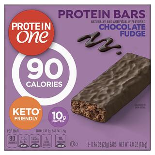 Protein One, Protein Bars, Chocolate Fudge, 5 Bars, 0.96 oz (27 g) Each