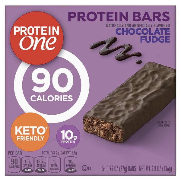 Protein Bars, Chocolate Fudge, 5 Bars, 0.96 oz (27 g) Each