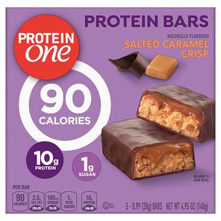 Protein One, Protein Bars, Salted Caramel Crisp,  5 Bars, 0.99 oz (28 g) Each