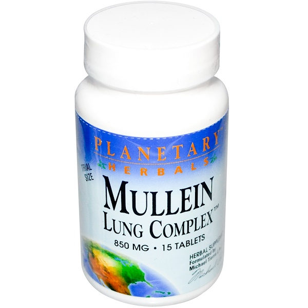 Planetary Herbals, Mullein Lung Complex, 850 mg 15 Tablets (Discontinued Item)