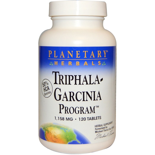Planetary Herbals, Triphala-Garcinia Program, 1,158 mg, 120 Tablets (Discontinued Item)