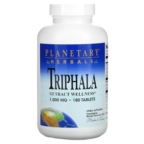 Triphala, GI Tract Wellness, 1,000 mg, 180 Tablets