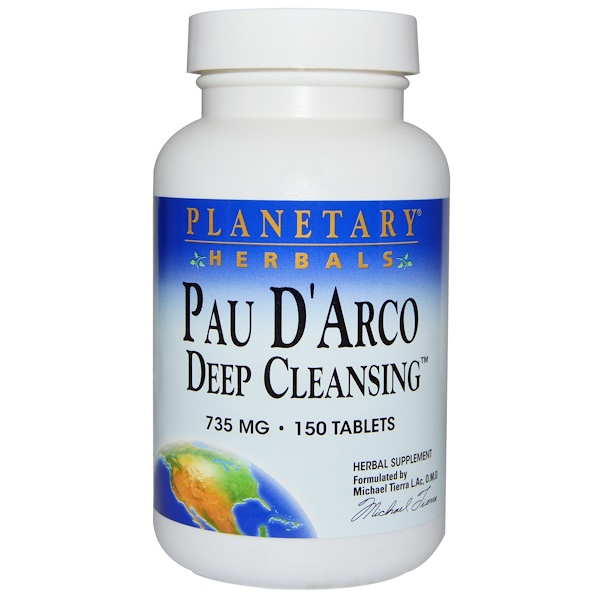 Planetary Herbals, Pau D'Arco Deep Cleansing, 735 mg, 150 Tablets (Discontinued Item)