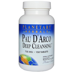Планетари Хербалс, Pau D'Arco Deep Cleansing, 735 mg, 150 Tablets отзывы