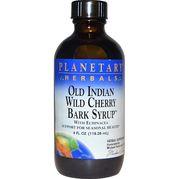Planetary Herbals, Old Indian Wild Cherry Bark Syrup, 4 fl oz (118.28 ml)