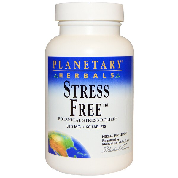 Stress Free, Botanical Stress Relief, 810 mg, 90 Tablets