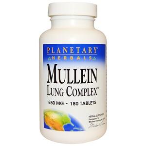 Планетари Хербалс, Mullein Lung Complex, 850 mg, 180 Tablets отзывы покупателей