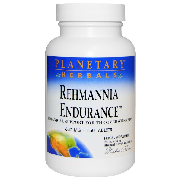 Rehmannia Endurance, 637 mg, 150 Tablets