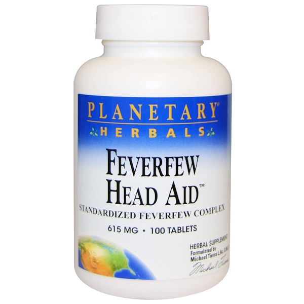 Planetary Herbals, Feverfew Head Aid, 615 mg, 100 Tablets (Discontinued Item)
