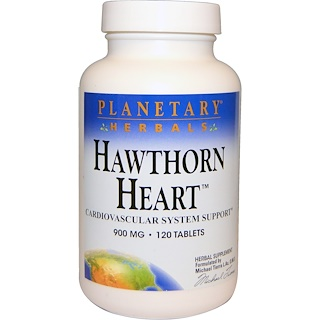 Planetary Herbals, Hawthorn Heart, 900 mg, 120 Tablets